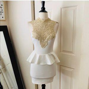 A'gaci Ivory Short Dress Small